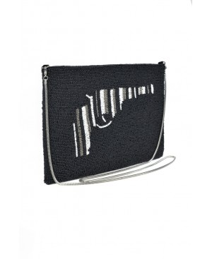 BORRO, Black Gun Handmade Purse