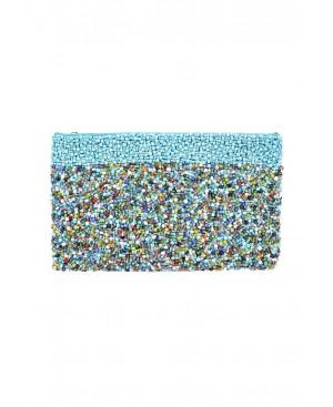 BORRO Multi Turquoise Clutch