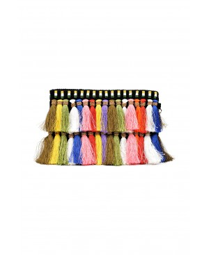 Handmade Bag Colorful Tassels