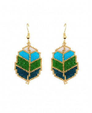 Green Leaves Earrings