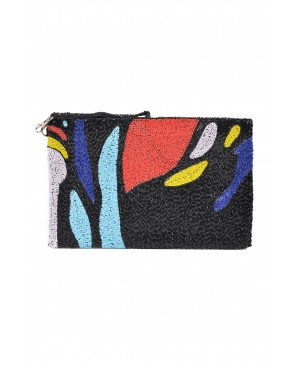 L'adorable Femme Black Clutch