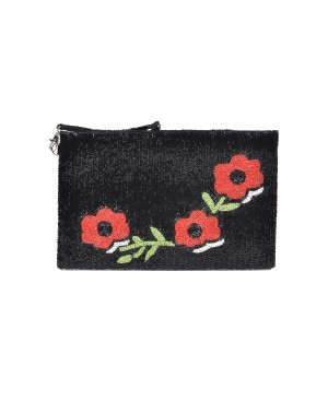 Dolce Flowers Black Clutch