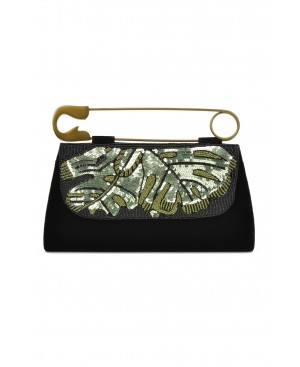 Unique Safety Pin Black Bag