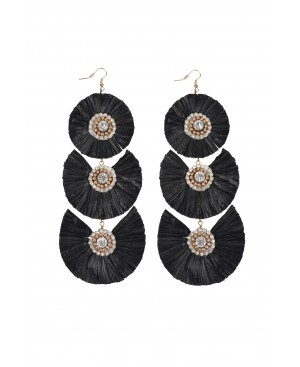 Festival Zen Black Earrings