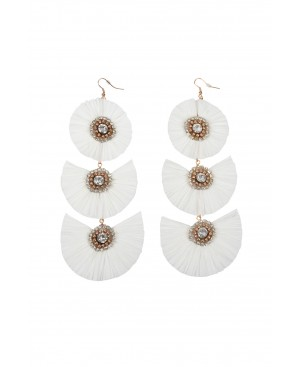 Festival Zen White Earrings